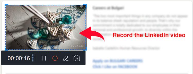 record the LinkedIn video