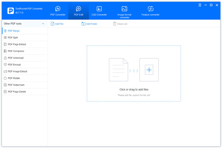 PDF Editor function