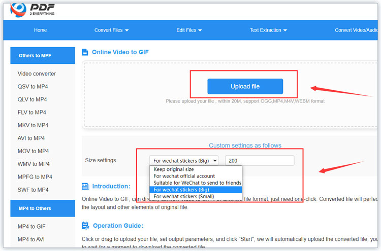 Convert MP4 to GIF online
