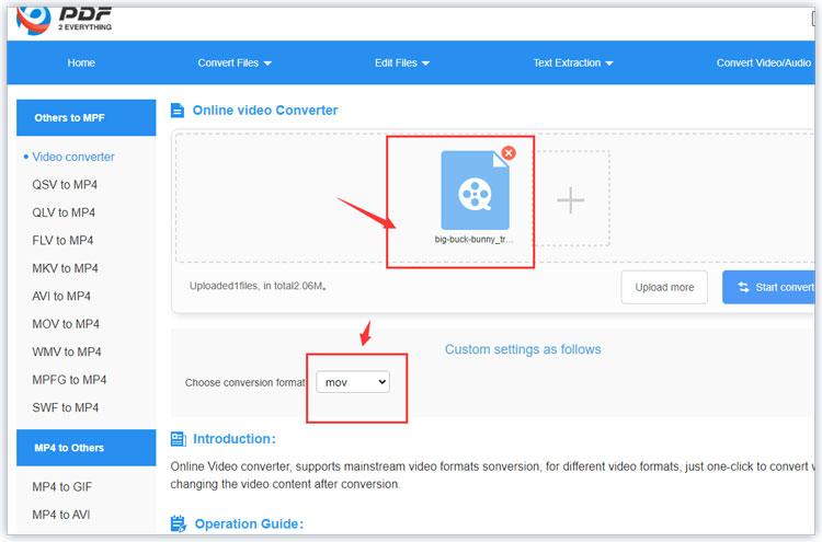 Convert WebM to MOV online