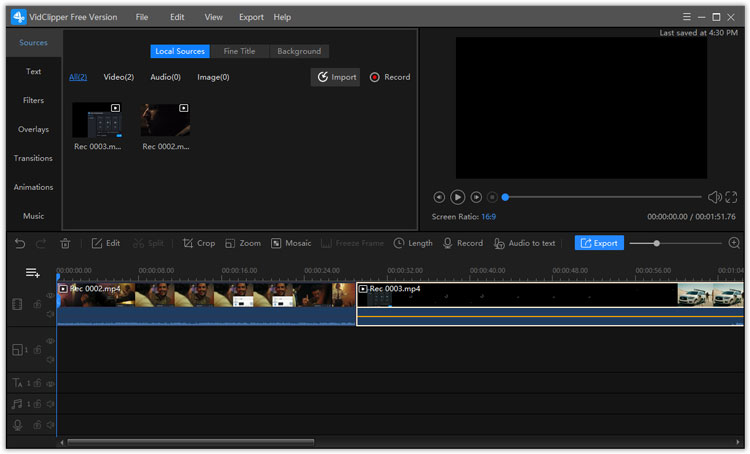 add files to VidClipper