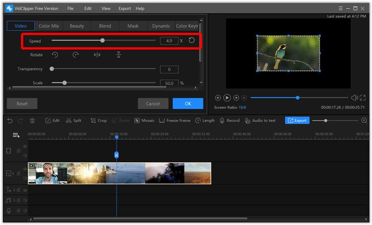 change video speed
